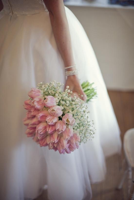 tulipany bukiet ślubny